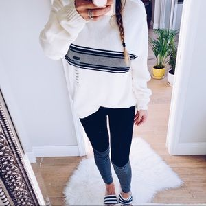 Striped Grunge Oversized Sweater